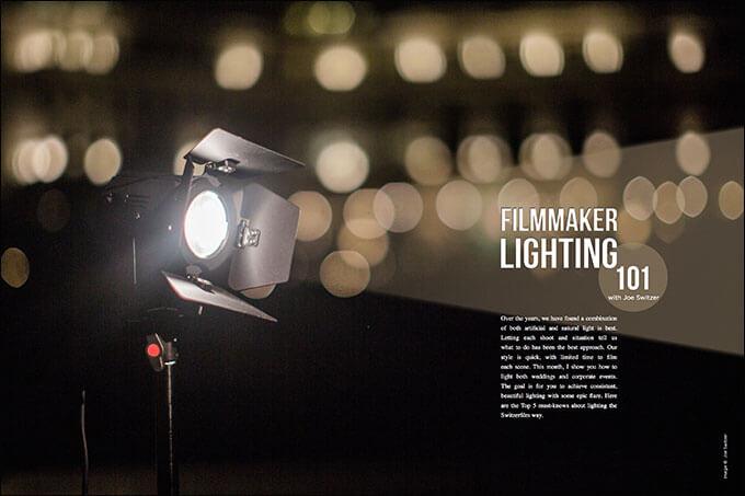 Filmmaker Lighting 101 with Joe Switzer