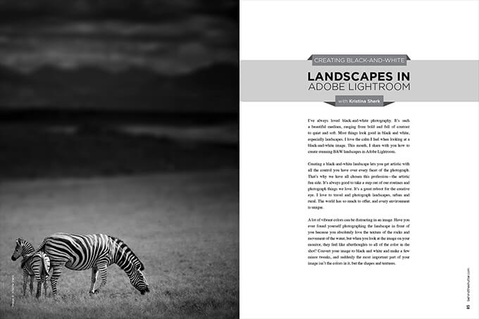 Creating Black-and-White Landscapes in Adobe Lightroom with Kristina Sherk