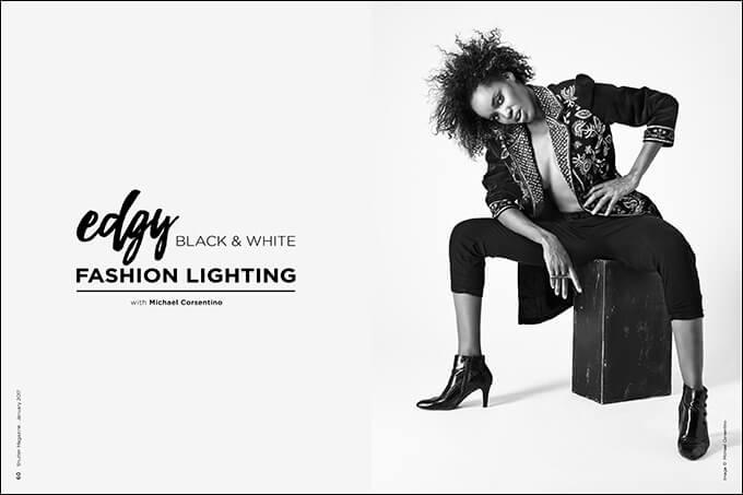 Edgy Black & White Fashion Lighting