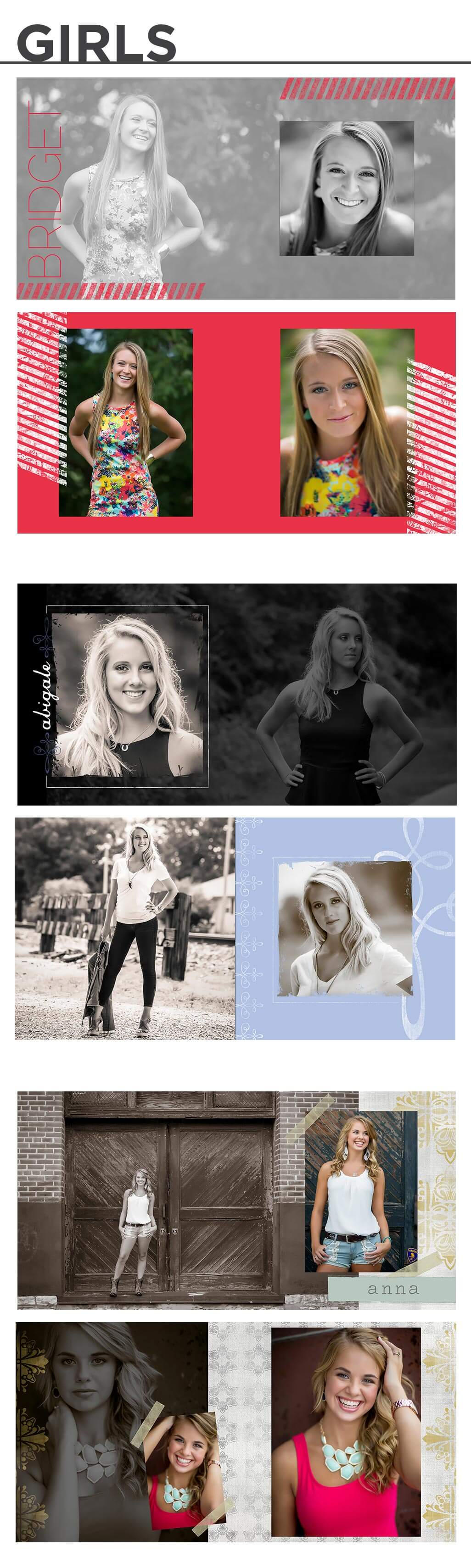 Senior Album Templates - Behind the Shutter | Free Photography Education