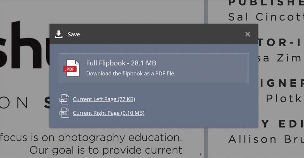 Offline PDF Download dialog box