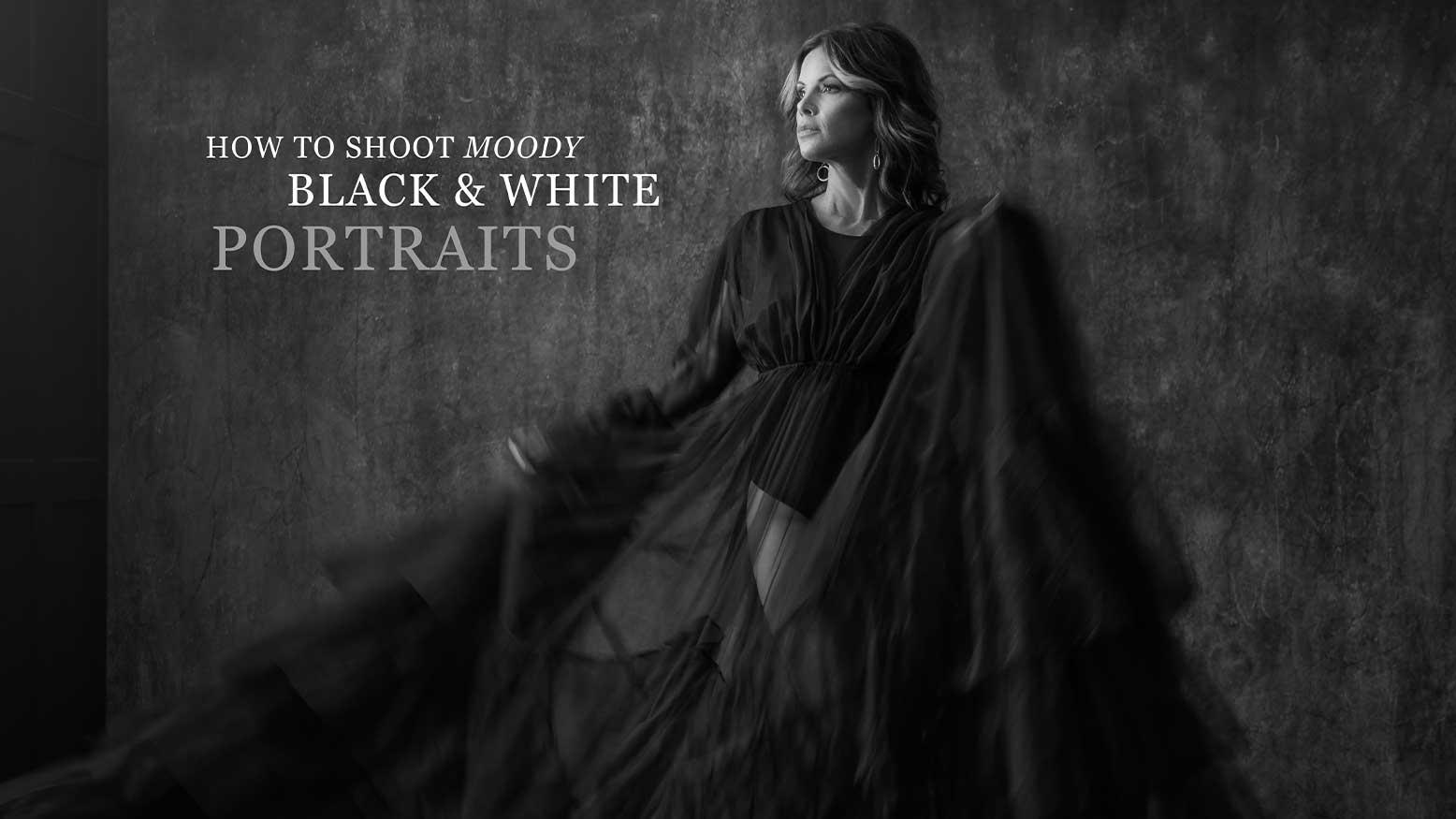 Moody Black & White Portraits